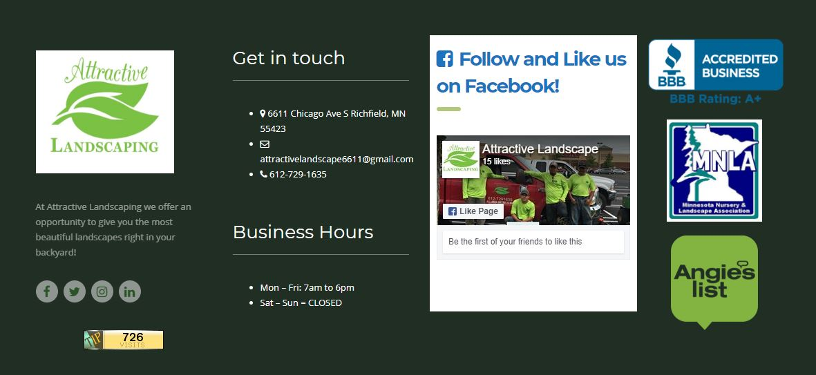 Social Media Marketing Stillwater MN | Attractive Landscaping